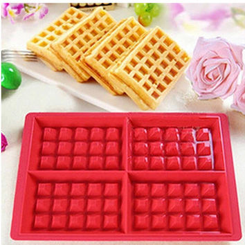 4 square waffle microwave silicone waffle maker