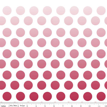 Ombre Red Polka Dot Cotton Fabric by Riley Blake Designs, 1 Yard, more yardage available