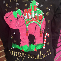 Simply Southern Perfect Gift Long Sleeve Tee - Black