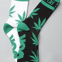 The Stay Smokin' 2-Pack Socks in Black & White