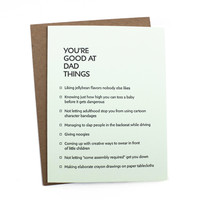 Dad Things Card