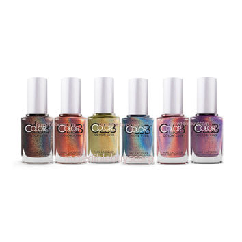 Color Club Halo Hues Holographic 6 Pcs Full Collection 2013 Set of 6 Colors