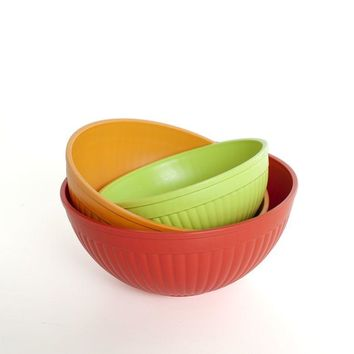 Nordic Ware 3-Piece Prep & Serve Mixing Bowl Set