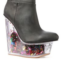 Jeffrey Campbell Shoe Icy Star in Black