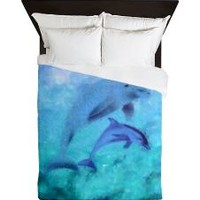 Painted Dolphins Queen Duvet> Swimming Dolphins> One Stop Gift Shop