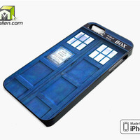 Blue Police Call Box Tardis iPhone 5s Case Cover by Avallen
