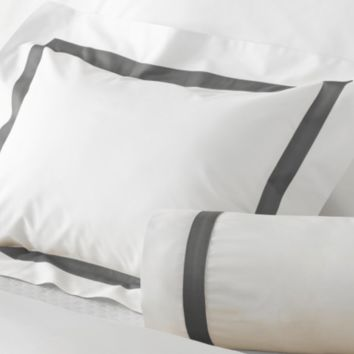 Lowell Charcoal Bedding by Matouk