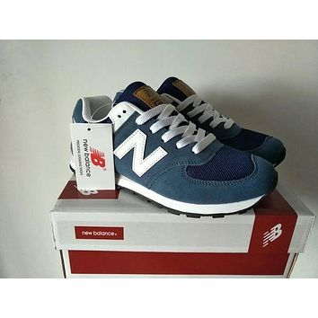 """""""New Balance"""" Fashionable Comfortable All-Match N Words Breathable Couple Sneakers Shoes Blue I"""