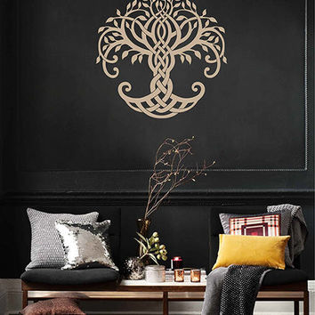 tree of Life wall decals Tree Decor Celtic wall decals for Living Room for Yoga Studio Decor kik3333