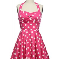 All That Jazz Halter Dress in Pink in Plus Size