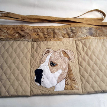 Watchful Dog Apron for Dog Agility, Dog Obedience, Horse Training Apron - Appliqued Pit Bull, Boxer