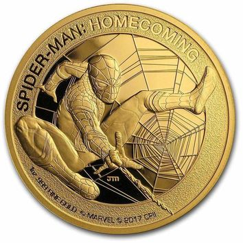 2017 Cook Islands 1 oz Gold $200 SPIDERMAN Gem Proof