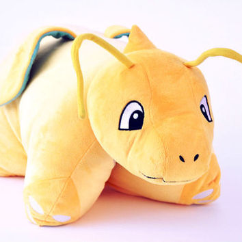 Dragonite Pokemon Plush Pillow Stuffed Doll Anime Plushie Soft Toy Cushion Large