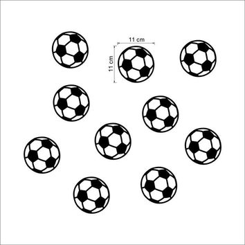 Kids Colorful Football Soccer Ball Wall Sticker