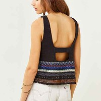 Ecote Embroidered Border Apron Tank Top