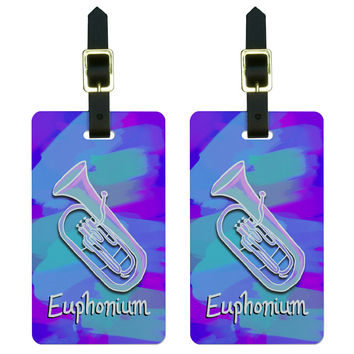 Euphonium - Musical Instrument Music Brass Band Luggage Tag Set