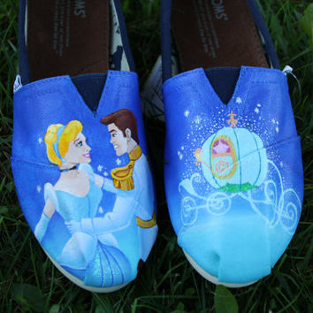 Cinderella Original Custom Acrylic Painting by SomethingFromTheSun