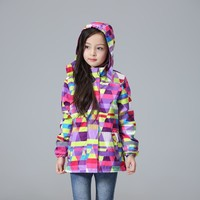 Waterproof Windproof Children Outerwear Baby Girls Jackets Child Coat Warm Polar Fleece For 3-12T Winter Autumn
