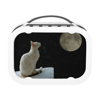 White Cat and Moon Lunch Box