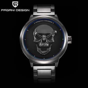 Skull Watch Gothic Punk 3D Skeleton Mens Watches Top Brand Luxury Creative Wrist Watche