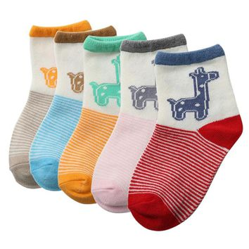 Newborn Infants Baby Kids Girls Deer Printed Cotton Ankle Socks 2-3Y