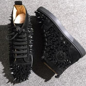 Cl Christian Louboutin Pik Pik Style #1993 Sneakers Fashion Shoes