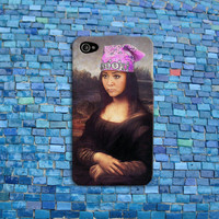 Mona Lisa Remix Famous Chick Funny Girl Girly Joke iPhone Case iPhone 4 iPhone 5 iPhone 4s iPhone 5s iPhone 5c Case