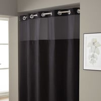 Hookless® Waffle 71-Inch x 74-Inch Fabric Shower Curtain in Black