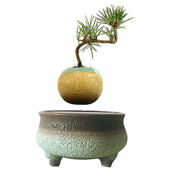 japan Levitation Floating Plant Magnet Bonsai Ceramic Planter Pottery Gifts Best Gift