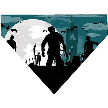 Halloween Over the Collar Dog Bandana - Walking Zombies