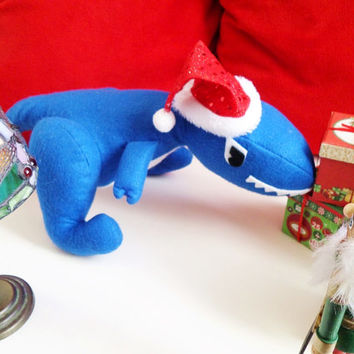 Allosaurus: Handmade Plush Dinosaur (medium sized, felt plushie)