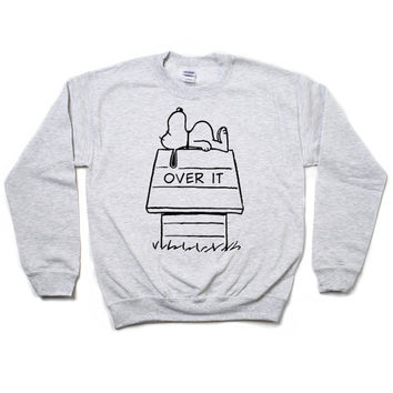 Snoopy Over It Sweatshirt (Ash)