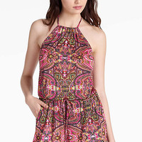 Tapestry High Neck Romper | Lucky Brand