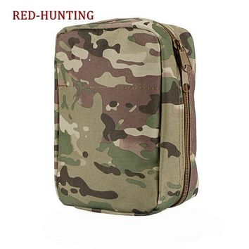 High Quality Airsoft Molle Ammo Gear First Aid Kit Tactical Medical Pouch Nylon Material bag for Ourtdoor Wargame Hunting 6 Colo