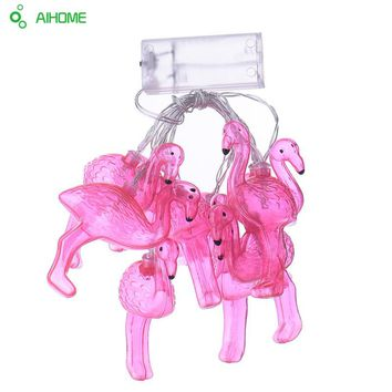 10Pcs Set Flamingo LED String Night Light Girl Room Background Lamp Party Decoration Lights