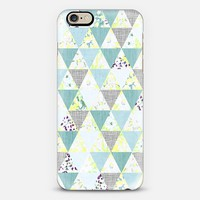 PASTEL GEO FLORALS IN MINT - PHONE CASE iPhone 6 case by Nika Martinez | Casetify