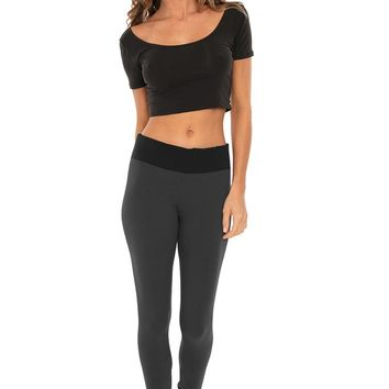 Women's Leggings w/ Contrast Band