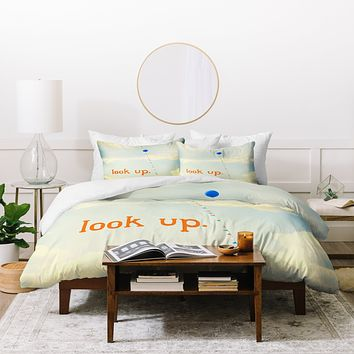 The Light Fantastic Look Up In Orange Duvet Cover