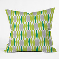 Heather Dutton Abacus Emerald Outdoor Throw Pillow