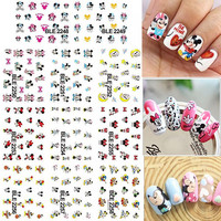 1 Lot = 11 Sheets Large Cartoon Mouse Water Transfer Nail Art Sticker Tips Watermark Manicure Pedicure BLE2248-2258