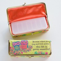 Pill  Box:  Large  Owls  Amazing  Life  Pill  Pouch  From  Natural  Life