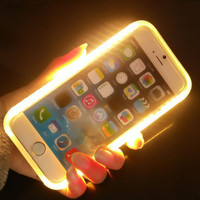 New LED Light selfie Phone Case for iPhone 7 7 Plus iPhone 5S SE iPhone 6 6s Plus + Gift Box