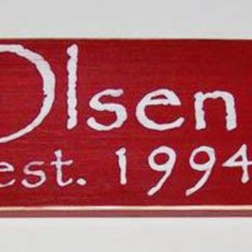 24x6 Custom Name Date Wood Sign