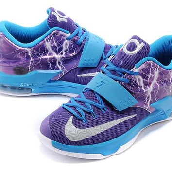 "2017  Nike Zoom KD 7  Kevin Durant 7 Ⅶ ""Lightning Version""   Basketball Shoes"