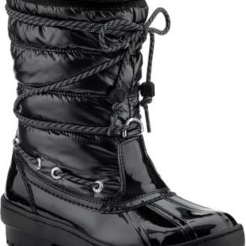 Sperry Top-Sider Highland Snow Boot BlackPatent/Nylon, Size 5M  Women's Shoes