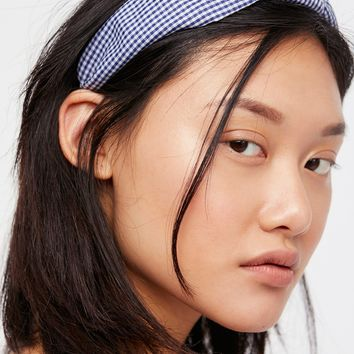 Free People Gingham Knotted Headband