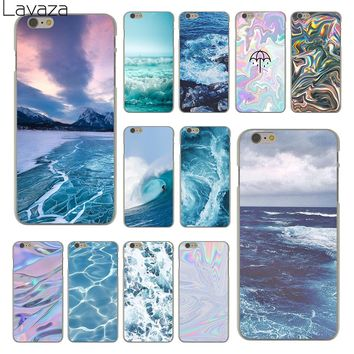 Lavaza The waves Ocean water Hard Clear Skin Cover Case for Apple iPhone 6 6S 6 S Back Phone Case Coque Shell