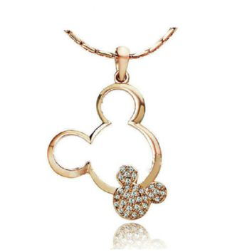 Mickey Necklace, Yellow Gold Plated