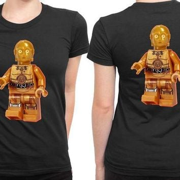 DCCKL83 Star Wars See Threepio 2 Sided Womens T Shirt