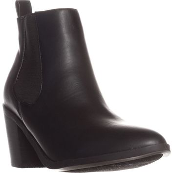 madden girl Barbiee Pull On Ankle Boots, Black, 10 US